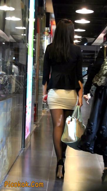 黑丝短裙紧身包臀的清纯美女,实际上并不清纯35