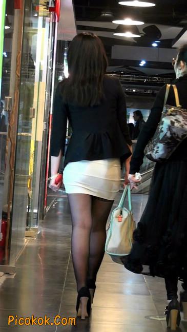 黑丝短裙紧身包臀的清纯美女,实际上并不清纯36