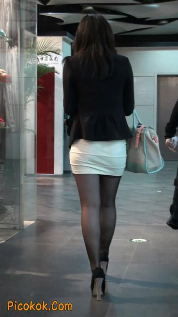 黑丝短裙紧身包臀的清纯美女,实际上并不清纯52