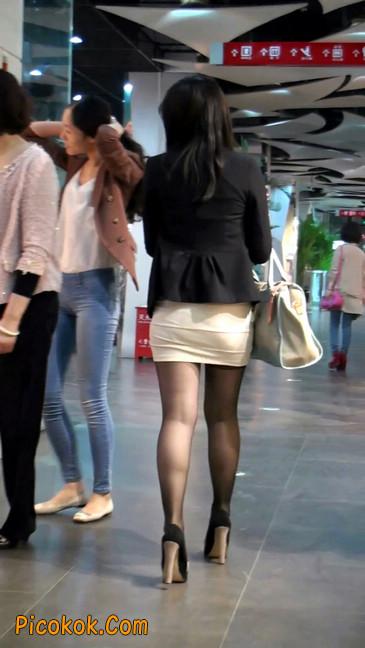黑丝短裙紧身包臀的清纯美女,实际上并不清纯53