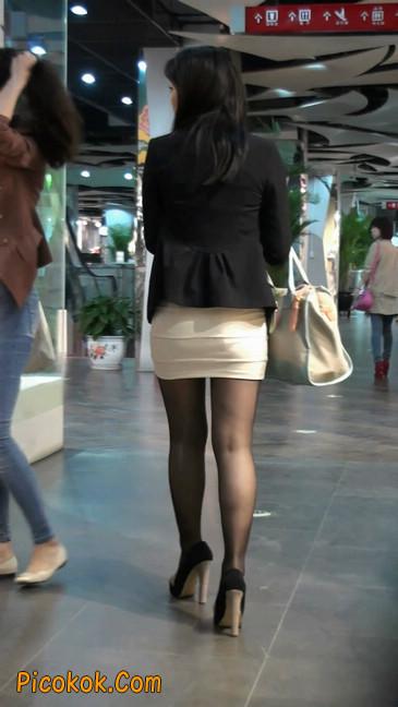黑丝短裙紧身包臀的清纯美女,实际上并不清纯54