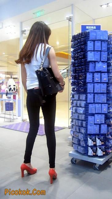 极品气质美女,紧身牛仔凸显身材11