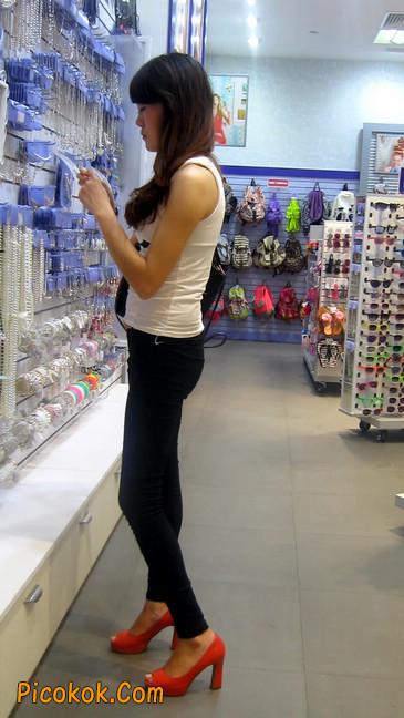 极品气质美女,紧身牛仔凸显身材19