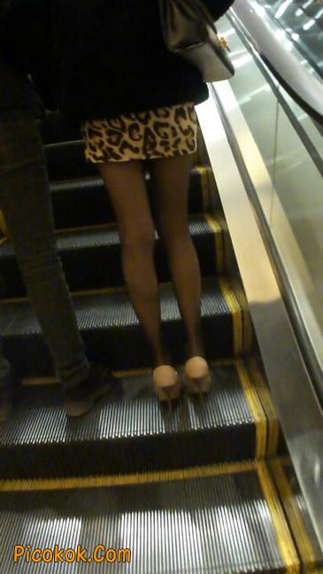 豹纹短裙,高跟黑丝,极度诱惑3