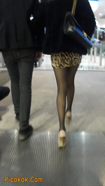 豹纹短裙,高跟黑丝,极度诱惑5