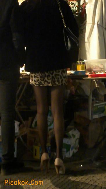 豹纹短裙,高跟黑丝,极度诱惑12