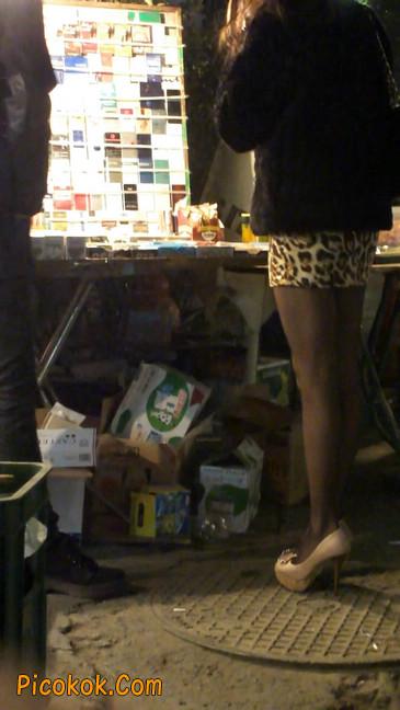 豹纹短裙,高跟黑丝,极度诱惑14