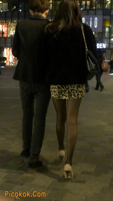 豹纹短裙,高跟黑丝,极度诱惑20