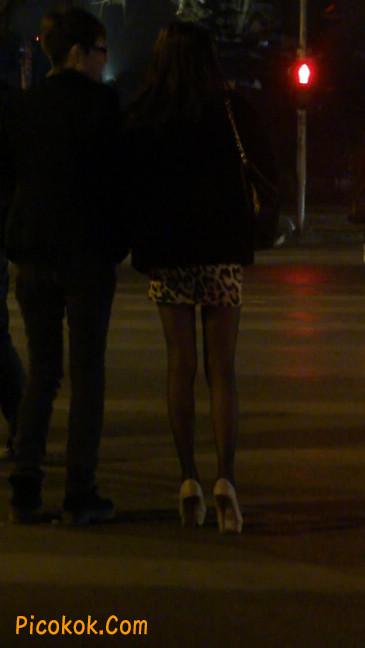 豹纹短裙,高跟黑丝,极度诱惑24