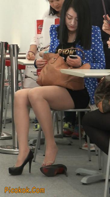 短裙长腿性感肉丝袜少妇9