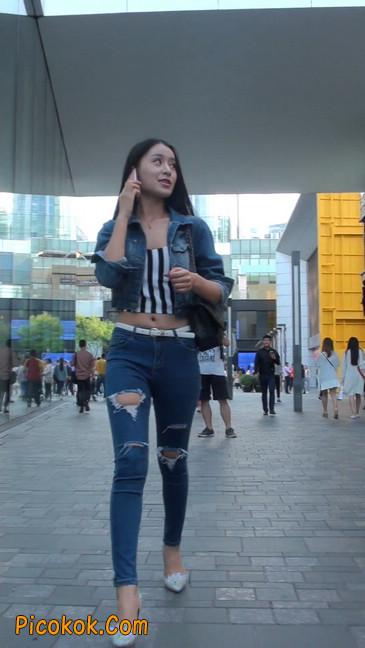 非常漂亮的紧身牛仔裤美女8
