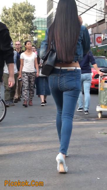 非常漂亮的紧身牛仔裤美女33