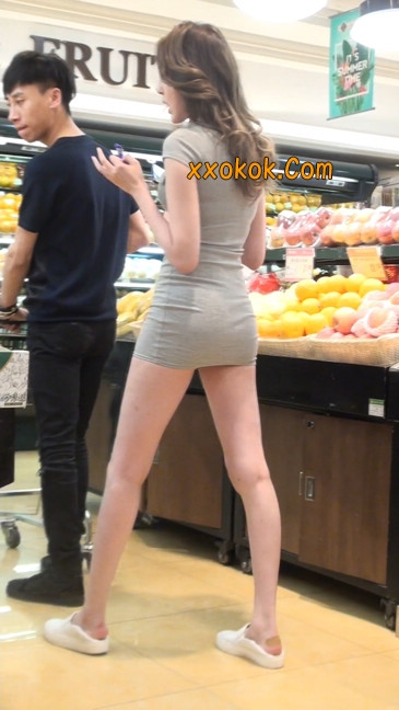 街拍极品超短裙气质网红美女18