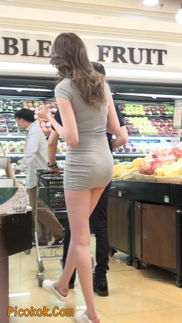 街拍极品超短裙气质网红美女19