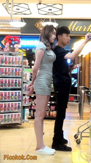 街拍极品超短裙气质网红美女53