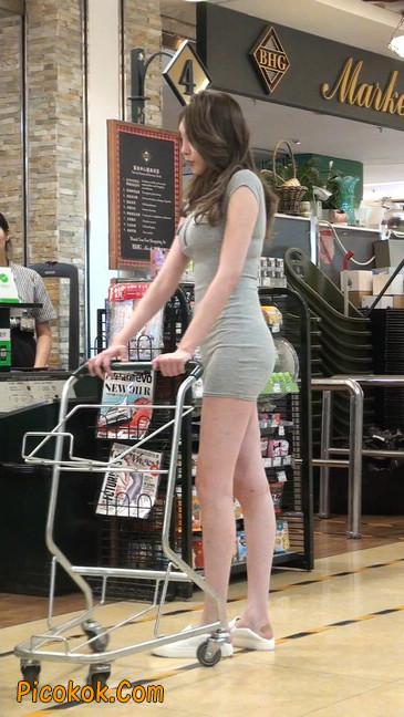 街拍极品超短裙气质网红美女64