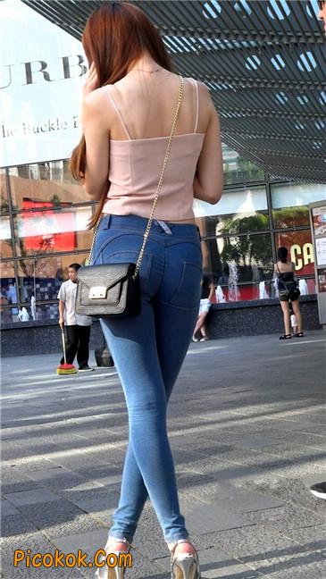 极品紧身牛仔性感高跟美臀大美女15