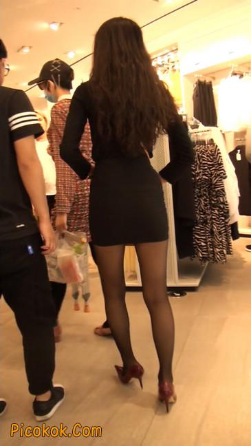 十分性感的超短连衣裙黑丝美少妇5