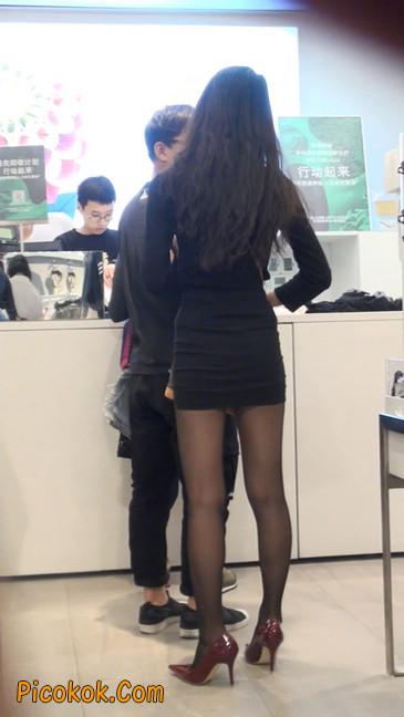 十分性感的超短连衣裙黑丝美少妇15