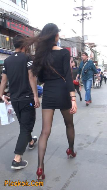 十分性感的超短连衣裙黑丝美少妇37