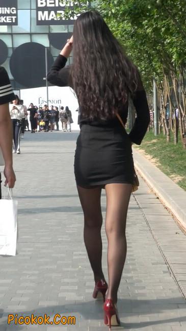 十分性感的超短连衣裙黑丝美少妇46