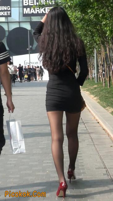 十分性感的超短连衣裙黑丝美少妇47