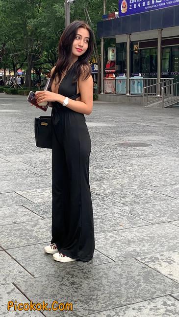 黑色开胸装喇叭裤你真的觉得你不会心动吗?23